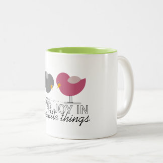 Birds Cartoon Tender Nostalgic Encouragement Cute Two-Tone Coffee Mug