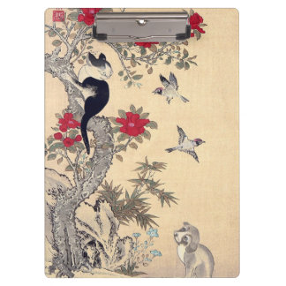 Birds, Cat and Dog, Itō Jakuchū Clipboards