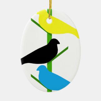Birds Ceramic Oval Decoration