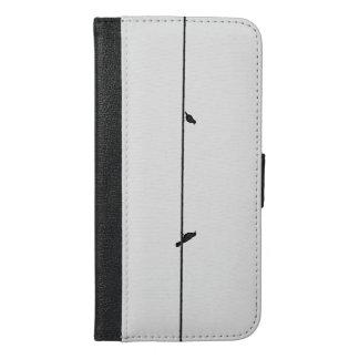 Birds chatting iPhone 6/6s plus wallet case