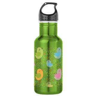Birds Chirping with Musical Pattern 532 Ml Water Bottle