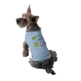 Birds Chirping with Musical Pattern Sleeveless Dog Shirt
