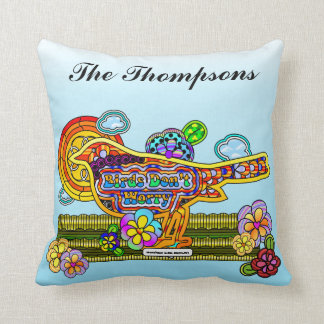 Birds Don't Worry Personalized Pillow