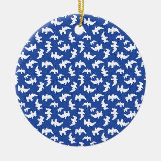 Birds Drawing Pattern Design Ceramic Ornament