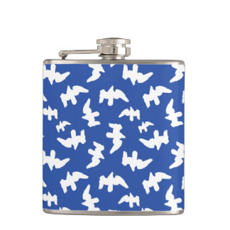 Birds Drawing Pattern Design Hip Flask