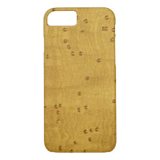 Birds Eye Maple Wood Image Custom iPhone 8/7 Case