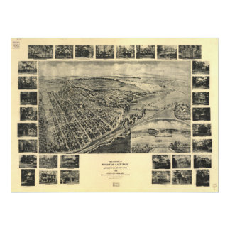 Bird's Eye View Mountain Lake Park, Maryland 1906 Card