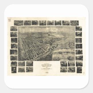 Bird's Eye View Mountain Lake Park, Maryland 1906 Square Sticker