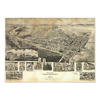 Bird's Eye View of Chestertown, Maryland (1907) Card