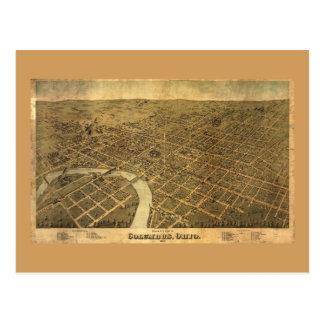 Birds eye view of Columbus, Ohio (1872) Postcard