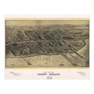 Bird's Eye View of Coney Island, New York (1906) Postcard