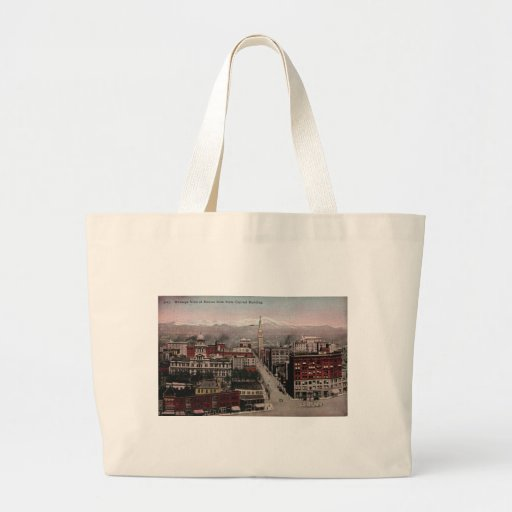 Bird's Eye View of Denver, CO in Early 1900's Tote Bag