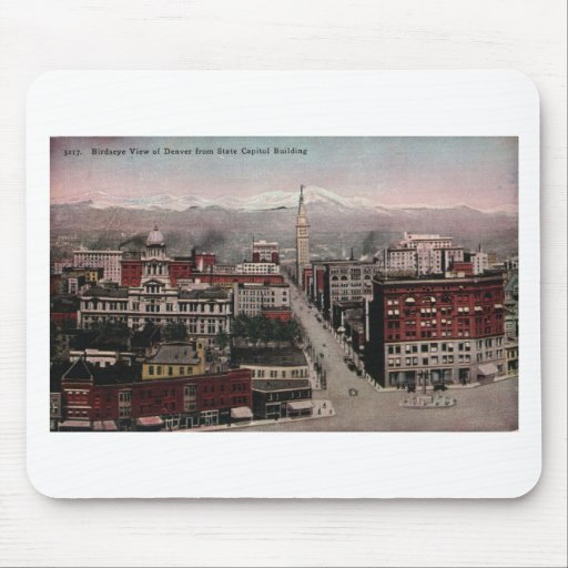 Bird's Eye View of Denver, CO in Early 1900's Mouse Pad