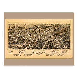 Bird's-eye view of Durham, North Carolina (1891) Postcard