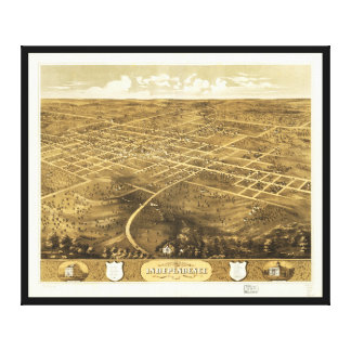 Bird's Eye View of Independence, Missouri (1868) Canvas Print