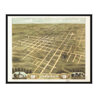 Bird's Eye View of Jackson, Tennessee (1870) Canvas Print