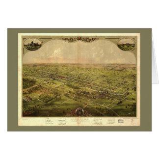 Bird's Eye View of Lansing, Michigan (1866) Card