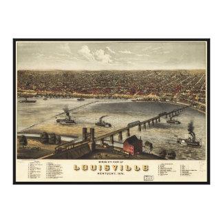 Bird's eye view of Louisville, Kentucky (1876) Canvas Print