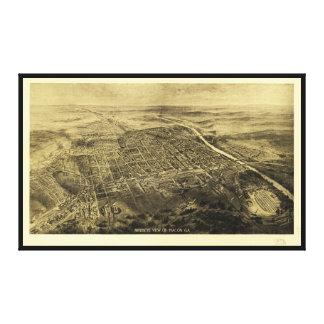 Bird's Eye View of Macon, Georgia (1912) Canvas Print