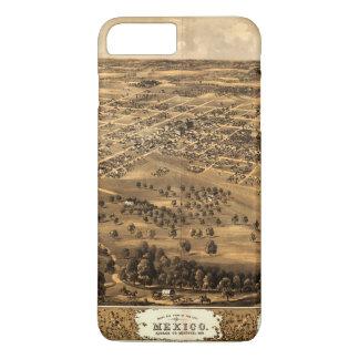 Bird's eye view of Mexico, Missouri (1869) iPhone 8 Plus/7 Plus Case