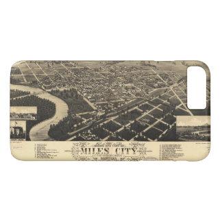 Bird's Eye View of Miles City, Montana (1883) iPhone 8 Plus/7 Plus Case
