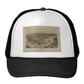 Birds' eye view of New Orleans from 1851 Trucker Hat