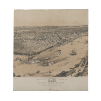 Birds' eye view of New Orleans from 1851 Memo Note Pads