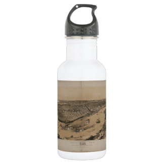 Birds' eye view of New Orleans from 1851 18oz Water Bottle