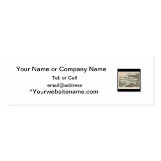 birds eye view of old Boston harbor Business Card