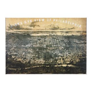 Bird's eye view of Philadelphia Pennsylvania 1868 Gallery Wrap Canvas