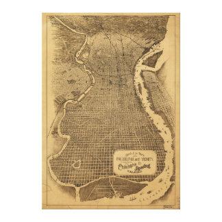 Bird's Eye View of Philadelphia Pennsylvania 1870 Canvas Print