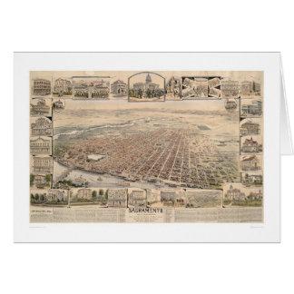 Bird's eye view of Sacramento, Calif. (1293) Greeting Card
