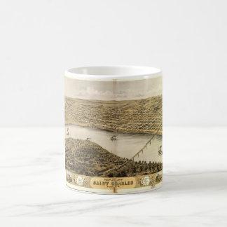 Bird's Eye View of Saint Charles, Missouri (1869) Coffee Mug