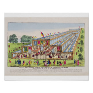 Bird's Eye View of the Great Exhibition in Hyde Pa Poster