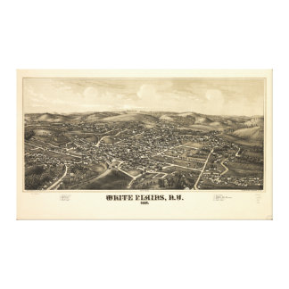 Bird's Eye View of White Plains New York (1887) Stretched Canvas Prints