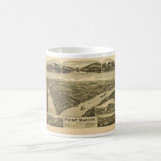 Bird's Eye View Point Marion Pennsylvania (1902) Coffee Mug