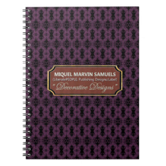 Birds Feather Flock Together Purple Black Notebook