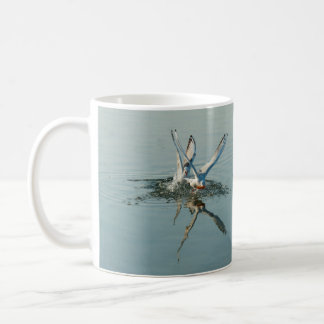Birds feather water reflection coffee mug