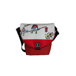 birds firemen in anger messenger bags