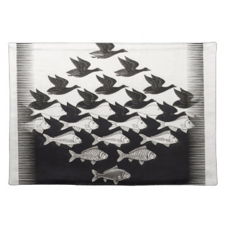 birds fish placemat