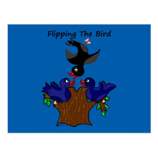 Birds Flipping The Bird Postcard