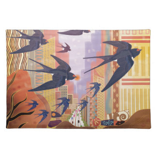 Birds Flying in the City Placemat