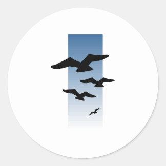 Birds Flying Round Sticker