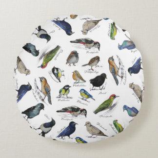 Birds garden round cushion