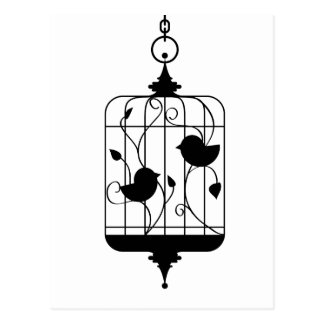 Birds in a Cage Postcard