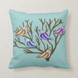 Birds in a Tree American Mojo Pillow