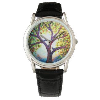 Birds in a tree watch