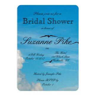 Birds in Flight Bridal Shower 13 Cm X 18 Cm Invitation Card
