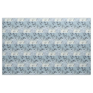 Birds in Flight Pattern fade blue and black Fabric