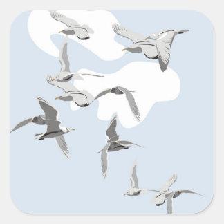 Birds in Flight Square Sticker
